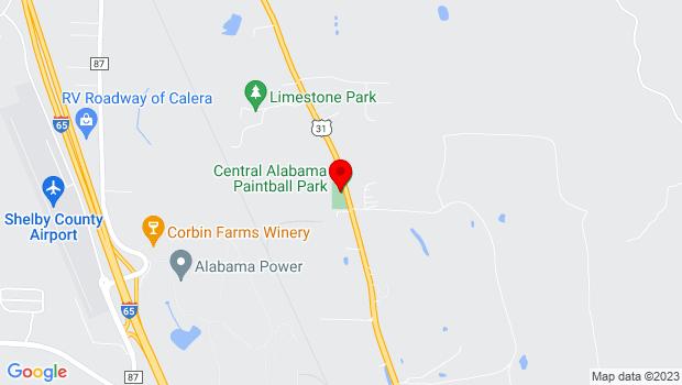 Google Map of 55 Rosebud Lane, Calera, AL 35040