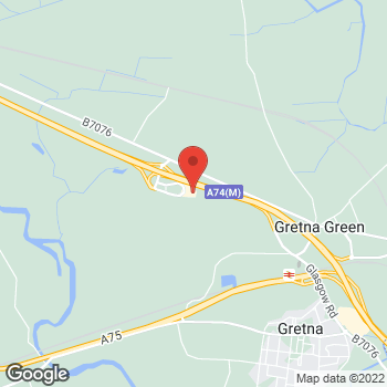 Map of Burger King at Service Area, A74(M) Trunk Road, Gretna Green,  DG16 5HQ