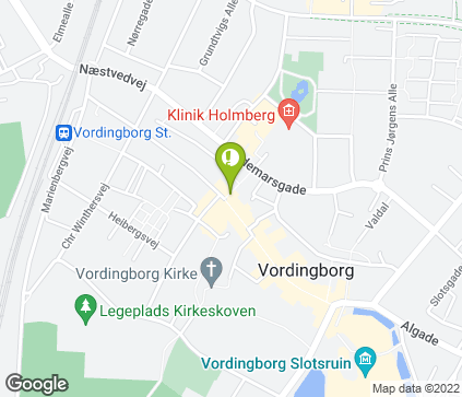 Map of Algade 59, 1. th. in Vordingborg