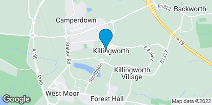 Map of Unit 14 The Killingworth Centre in Newcastle-Upon-Tyne