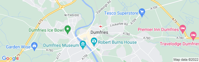 Map Of Dumfries