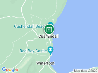 A static map of SeaSearchNI Dive Survey - Cushendall