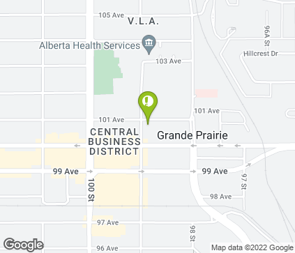 Map of 9835 101 Ave in Grande Prairie