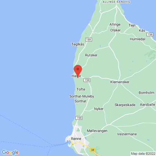 Hasle Cup Bornholm map