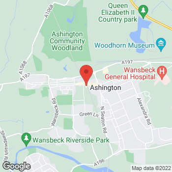 Map of wilko Ashington at Wansbeck Square, Ashington,  NE63 9XH