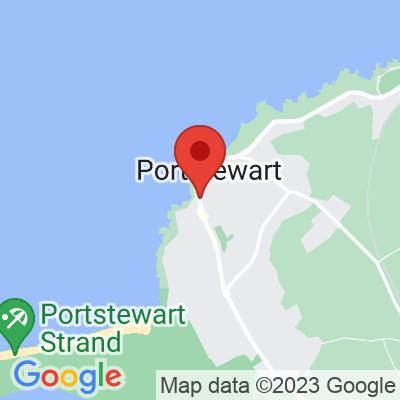 Map showing Guilt Trip Coffee + Donuts Portstewart