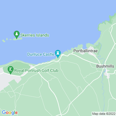 Dunluce Castle Location