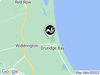 A static map of Druridge Pools