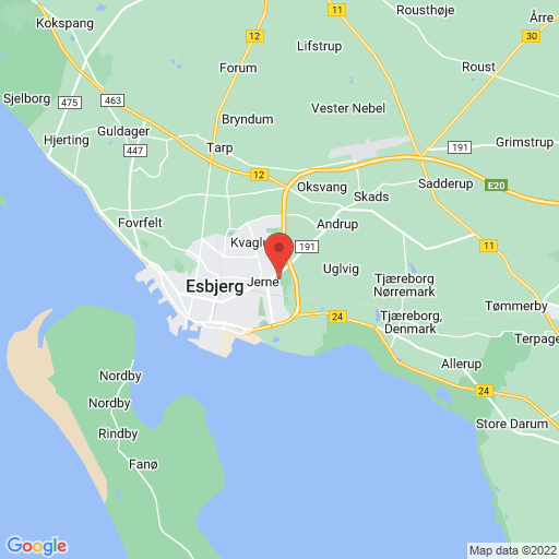 Esbjerg fB Scandic Olympic Cup 2020 map