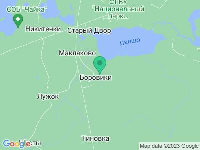 Карта Дендропарк в Смоленском поозёрье