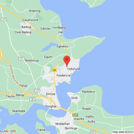 Sydbank Opstart Cup 2018 Fredericia map
