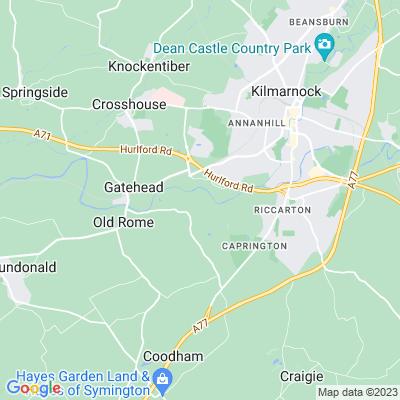 Caprington Castle Location