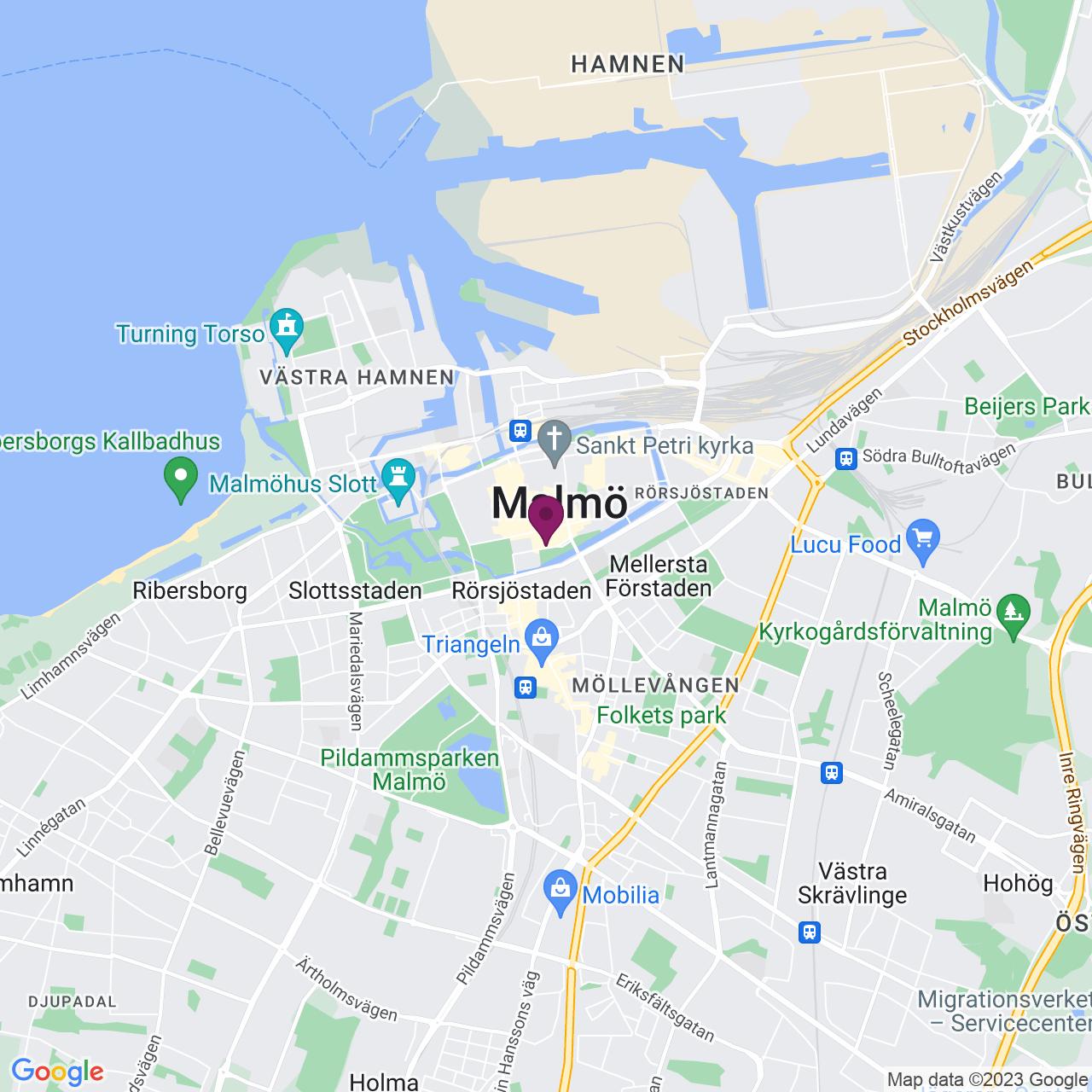 Karta över Lilla Nygatan 7