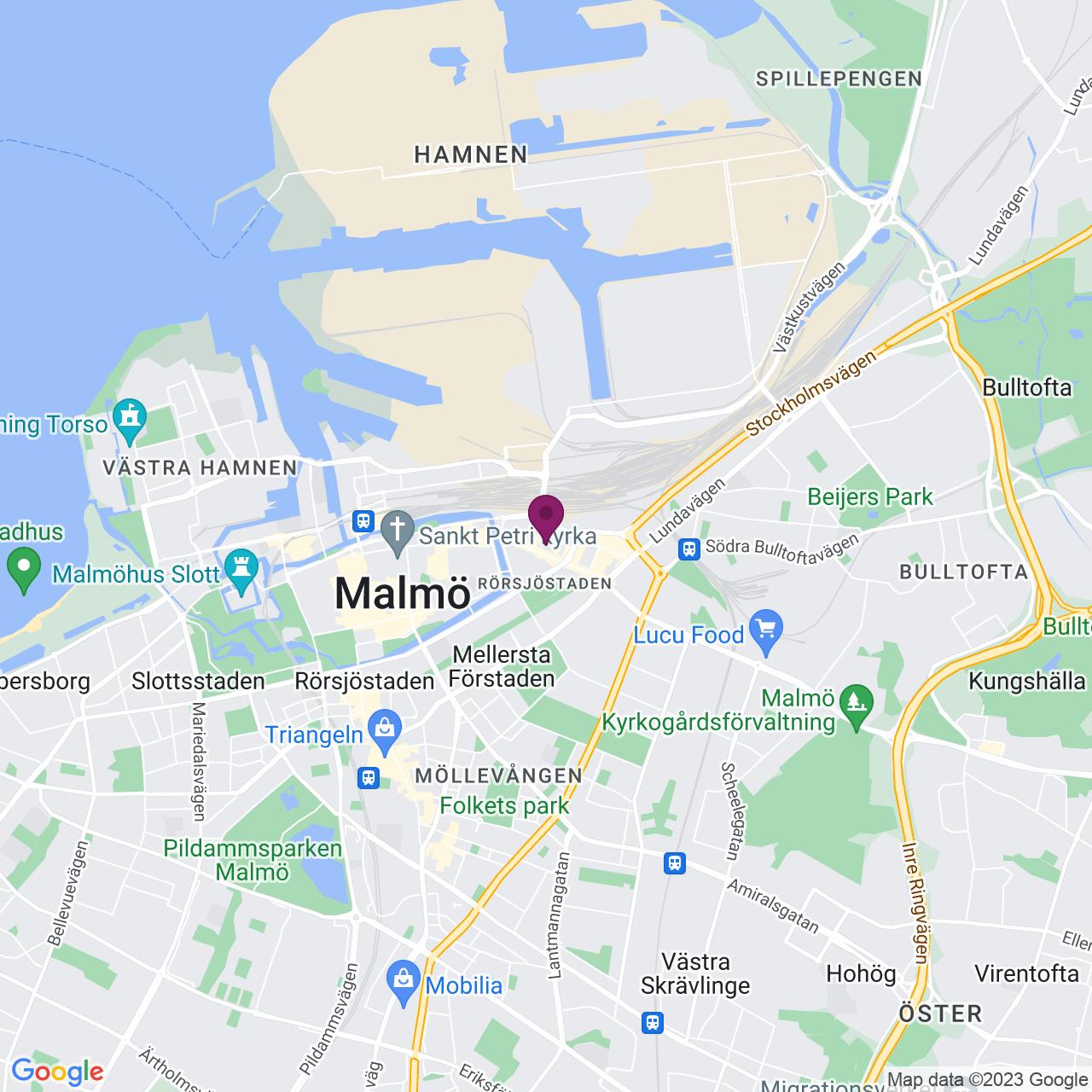 Karta över Bredgatan 3