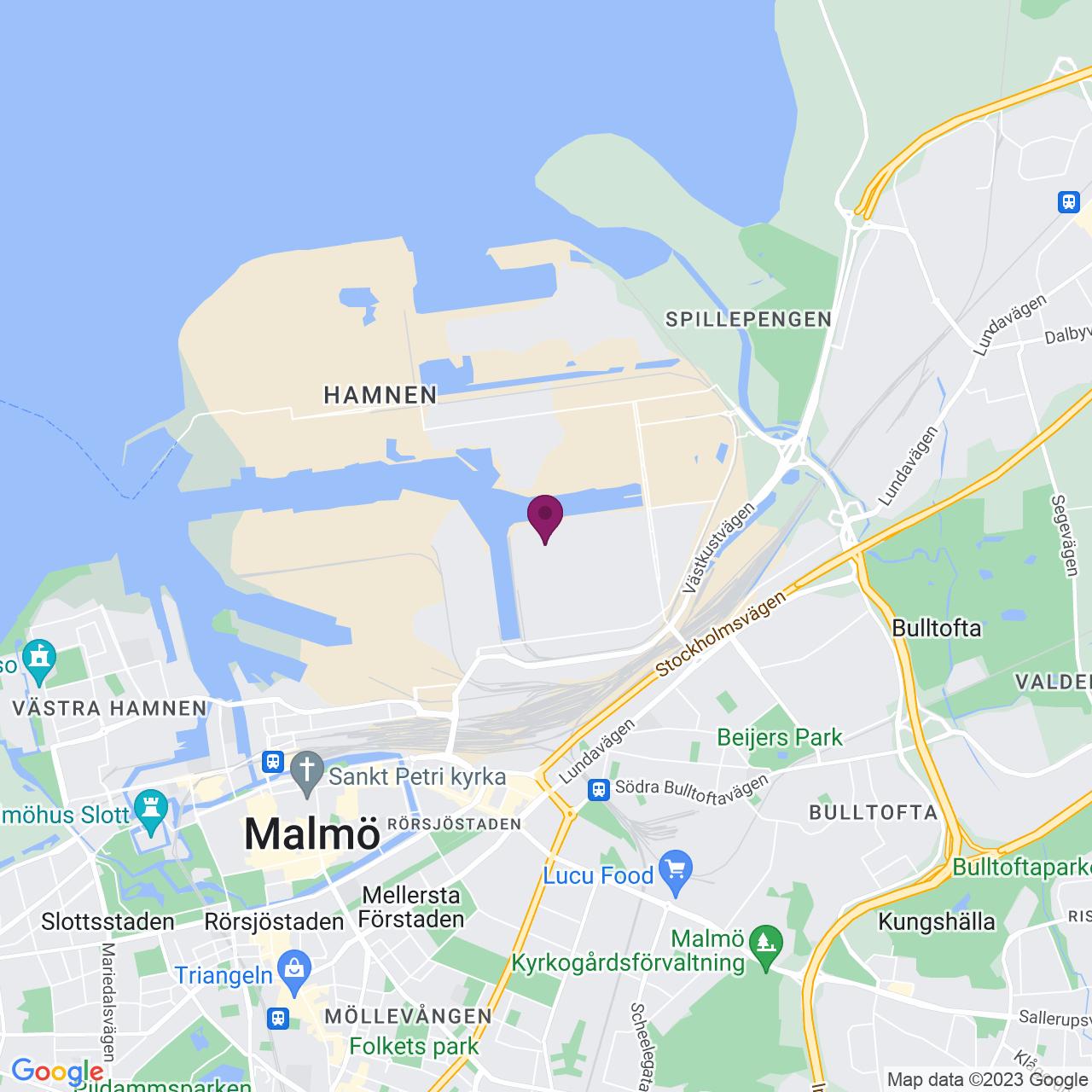 Karta över Styrsögatan 2-4