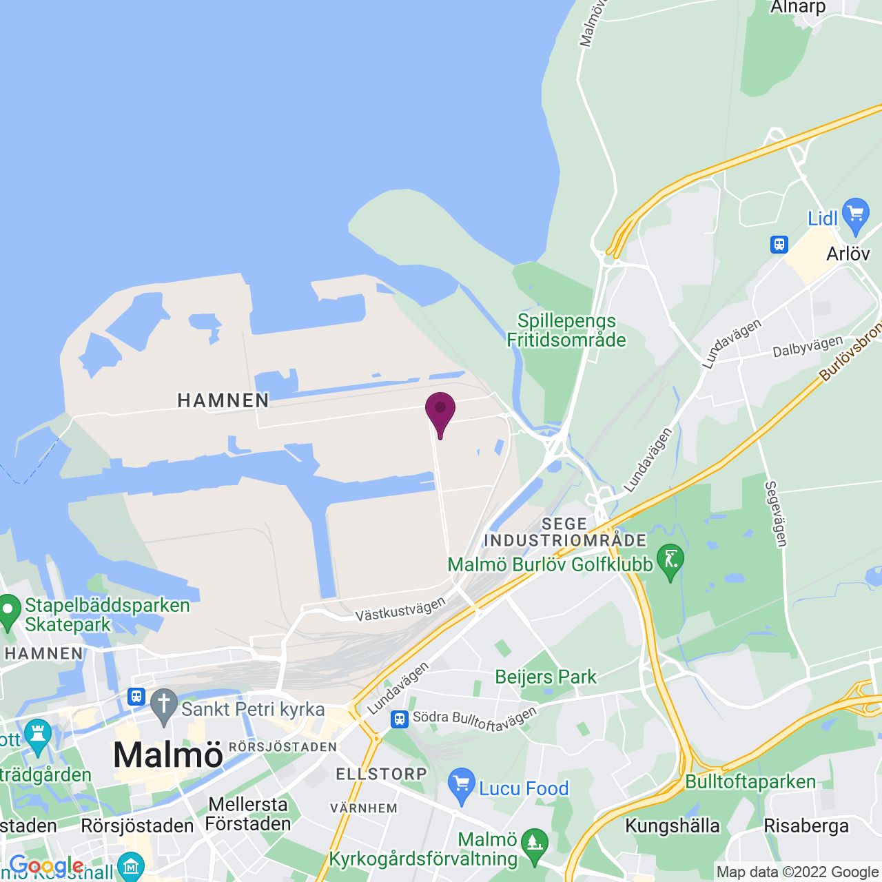 Karta över Blidögatan 32-34