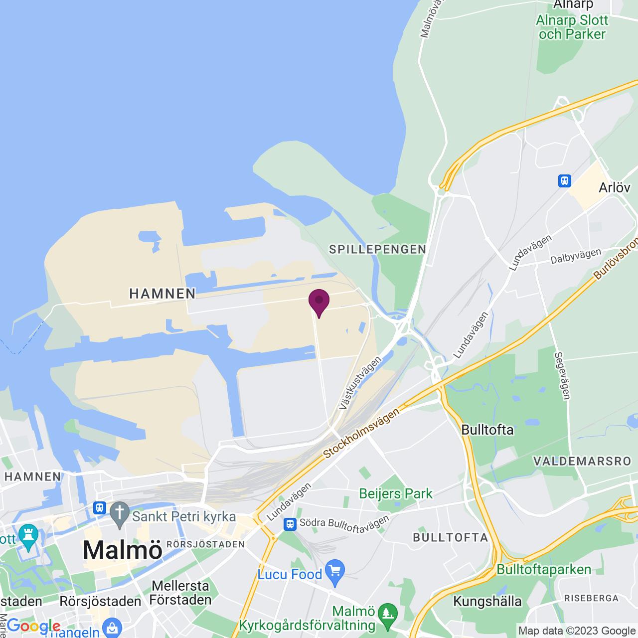Karta över Flintrännegatan 21