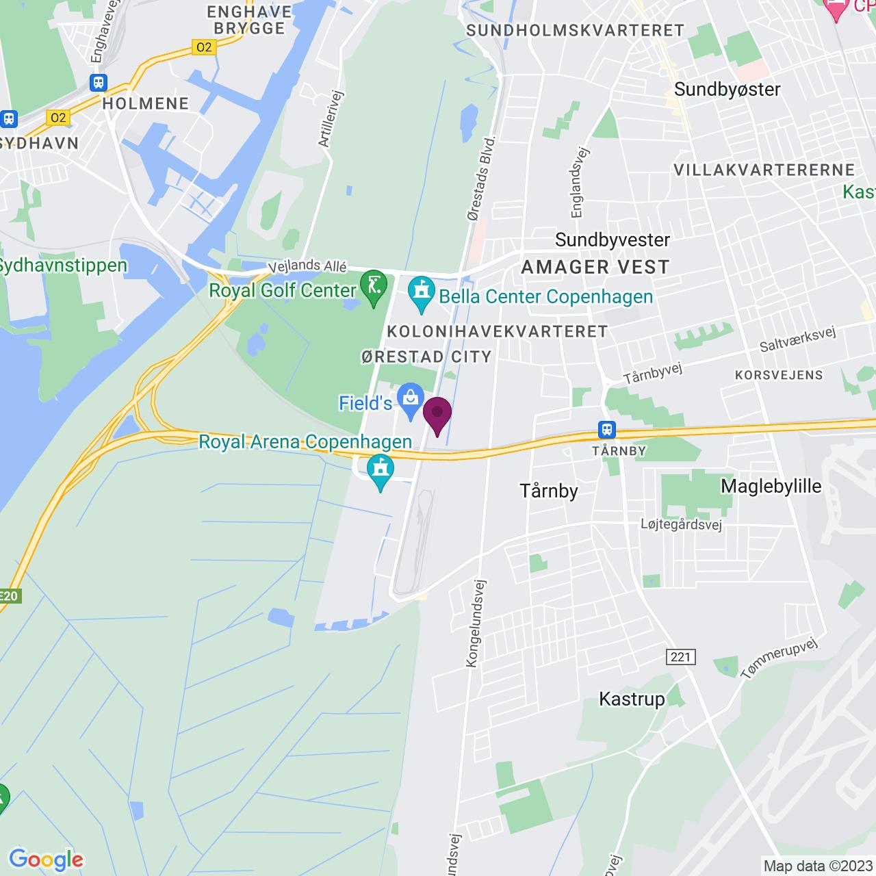Kort över Kay Fiskers Plads 9