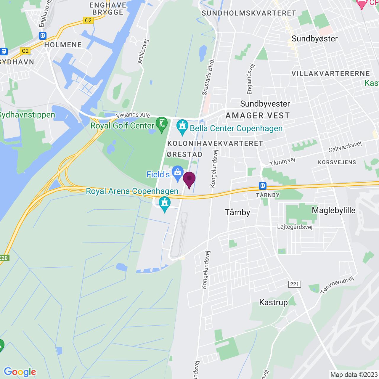 Karta över Kay Fiskers Plads 9