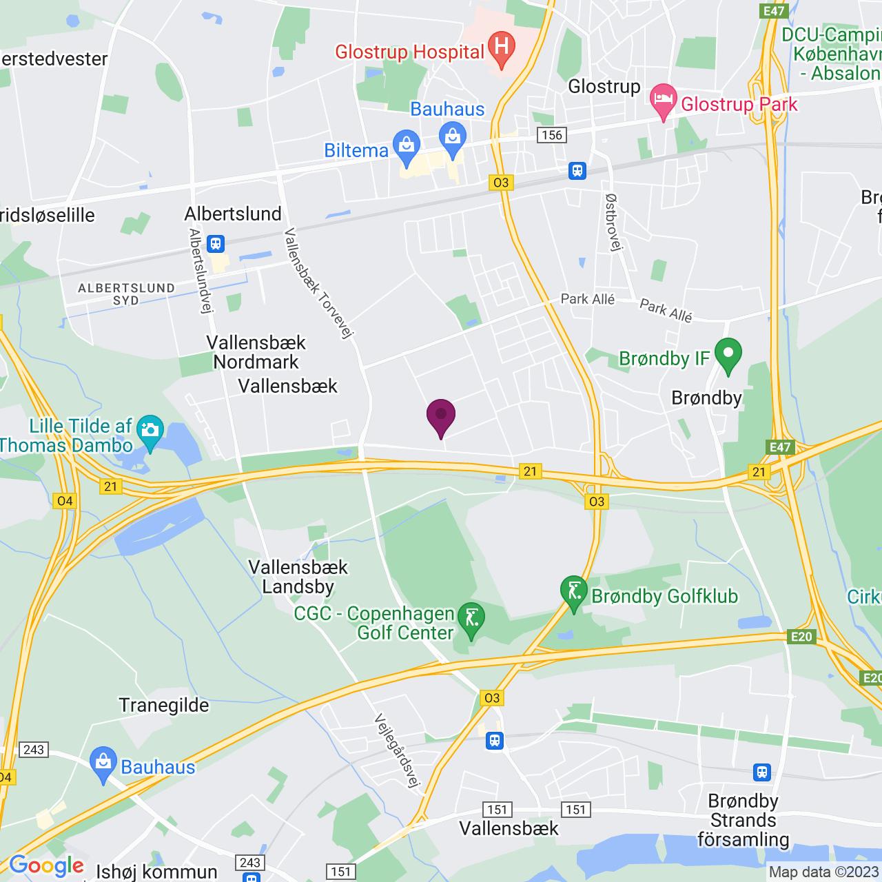 Karta över Abildager 26