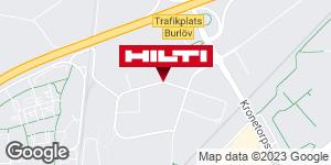 Få vägbeskrivning till Hilti-butik Arlöv