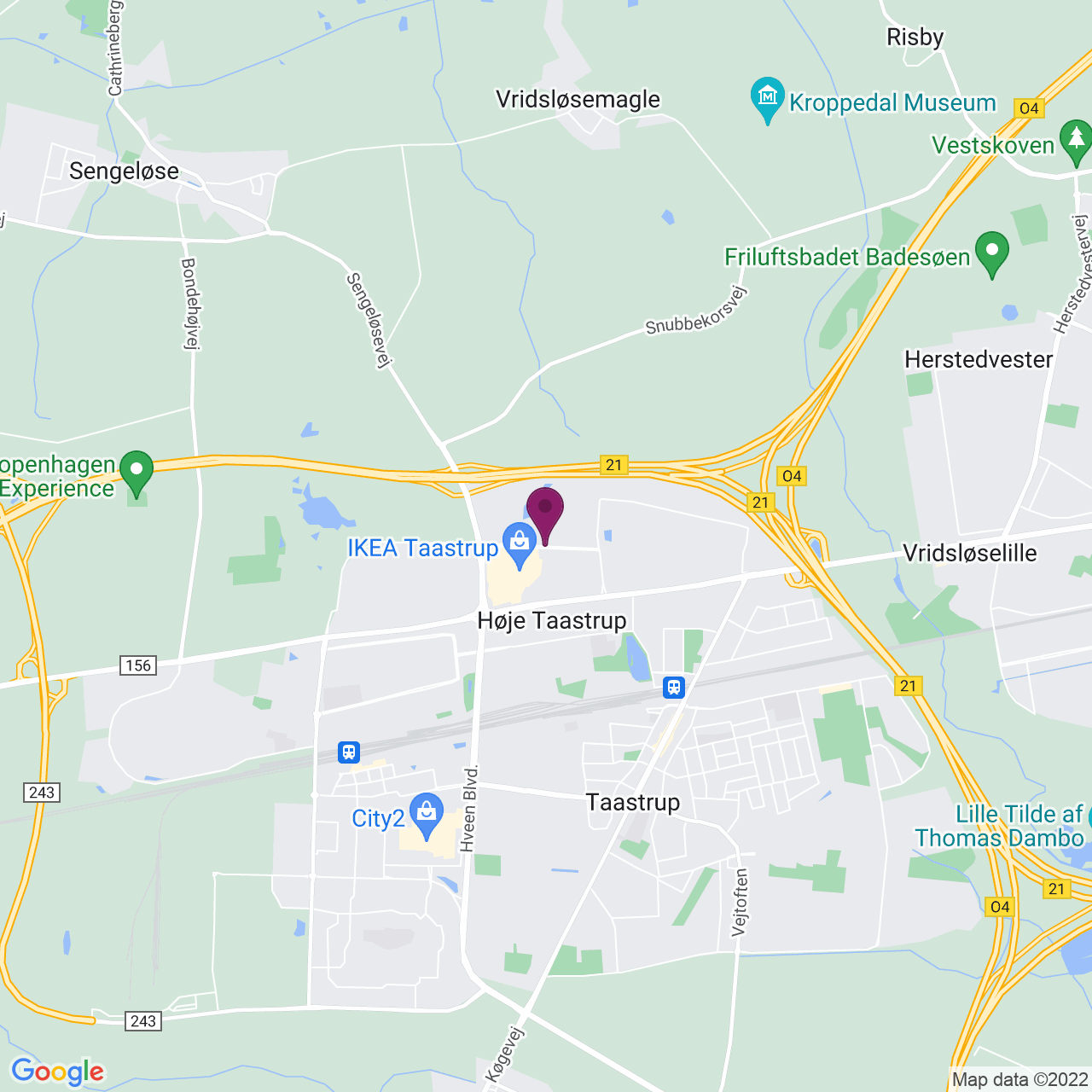 Kort över Helgeshøj Allé 3