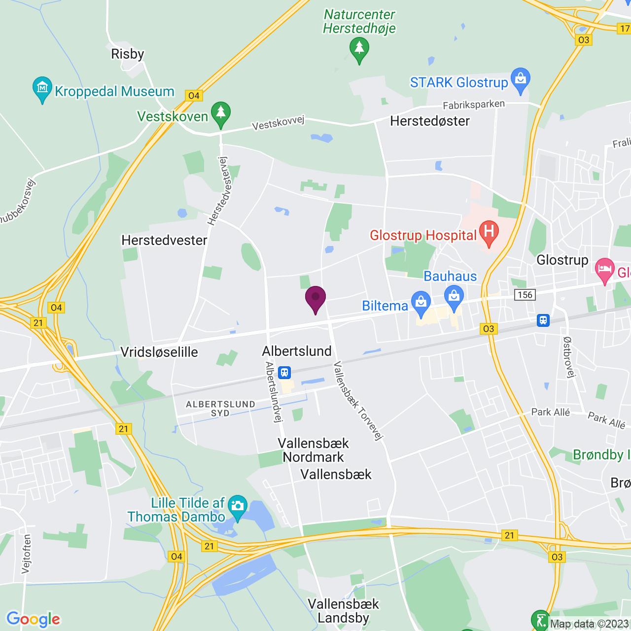 Kort över Roskildevej 22
