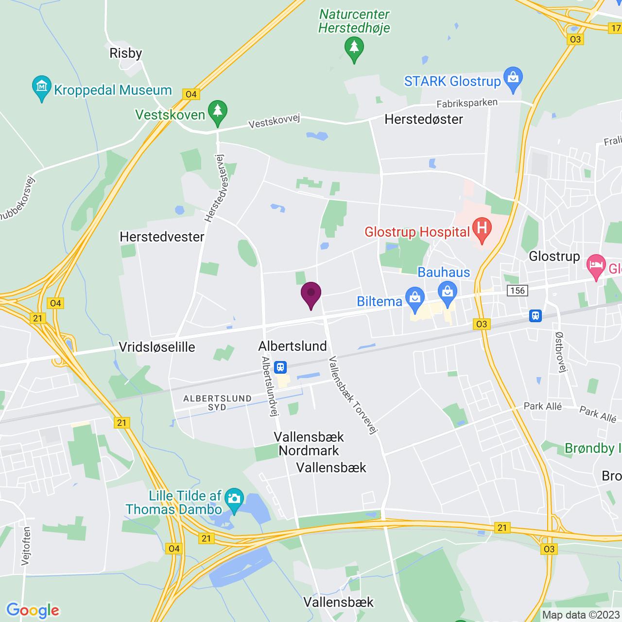 Map of Roskildevej 22