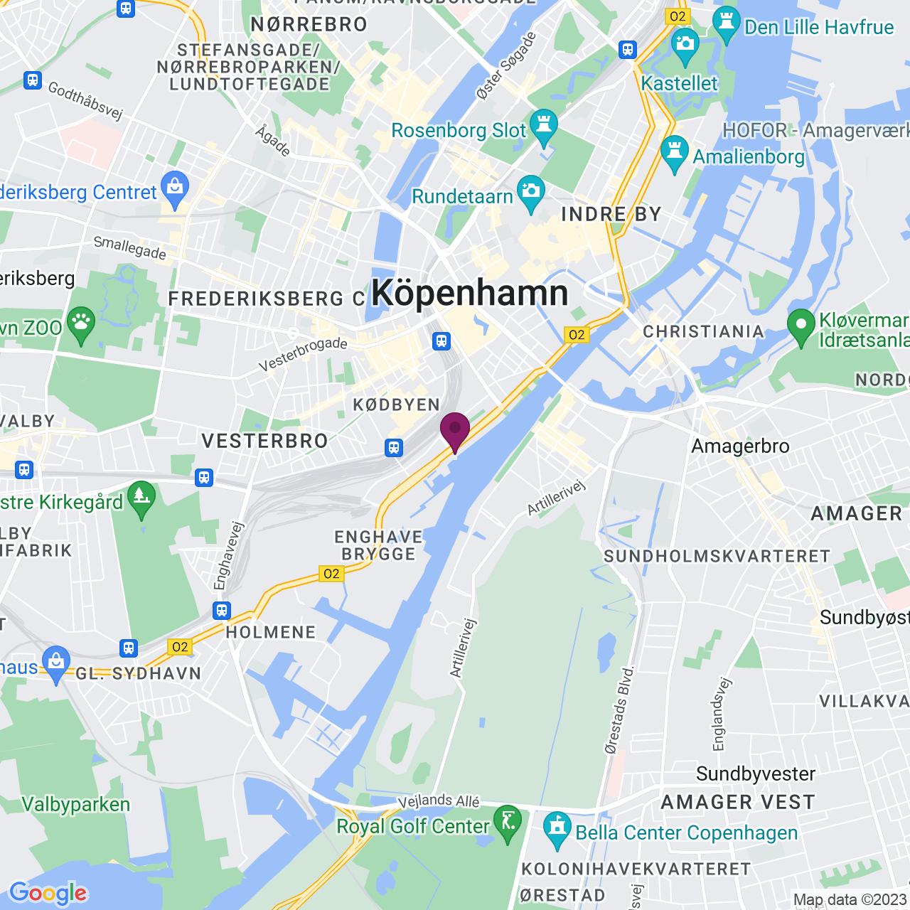 Karta över Kalvebod Brygge 45