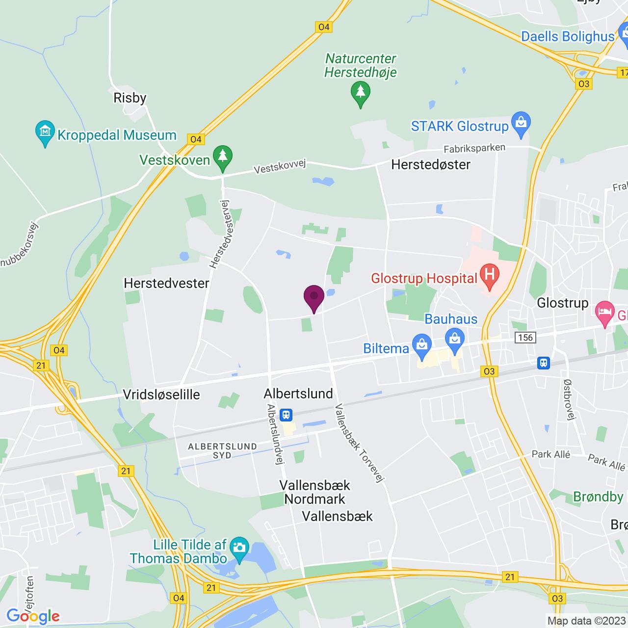 Kort över Roholmsvej 21