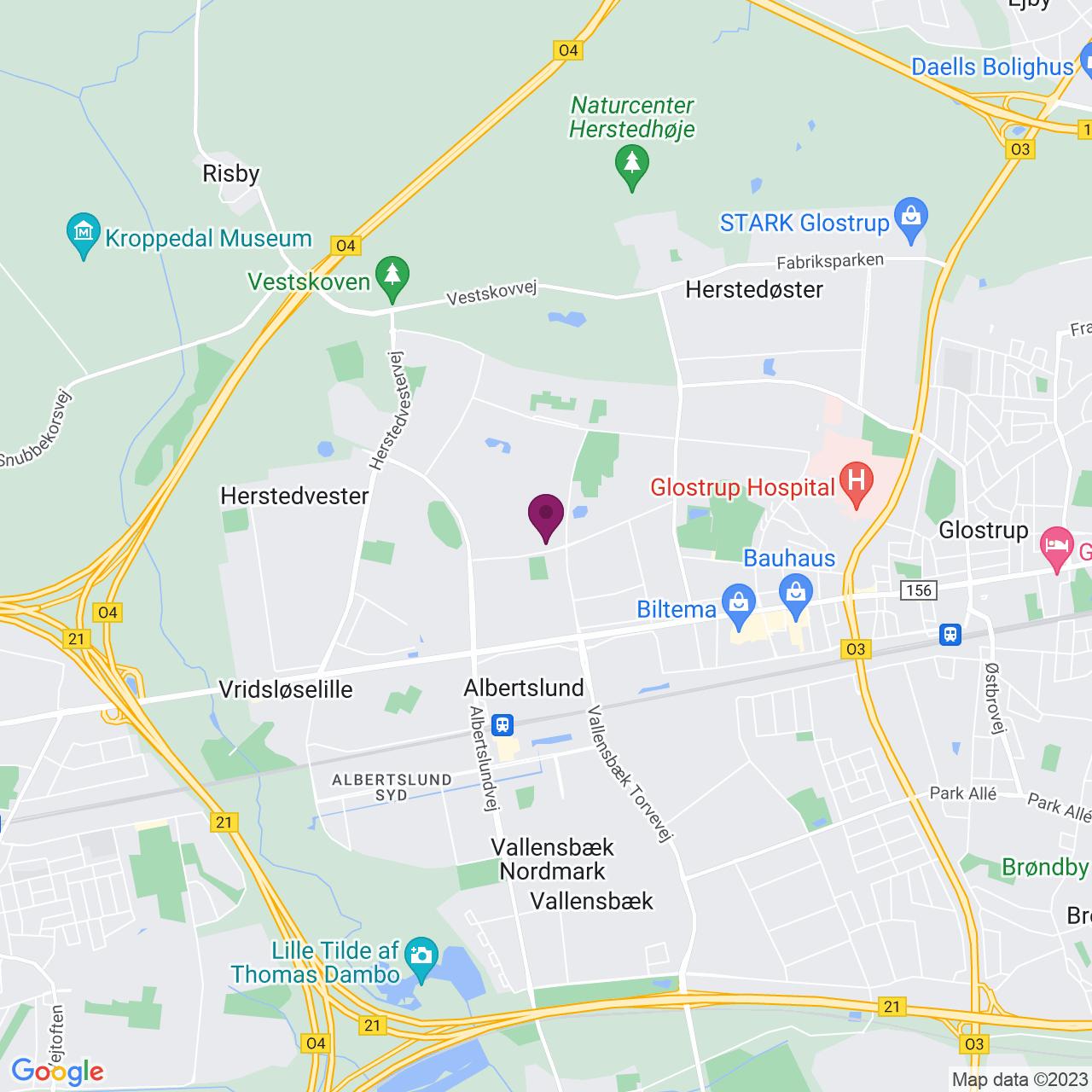 Karta över Stensmosevej 15