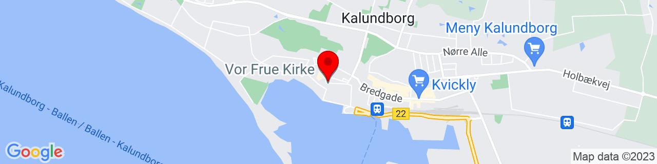 Google Map of 55.68042777777777, 11.080858333333333