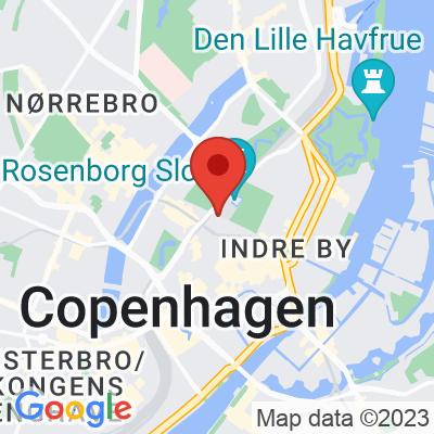 Map showing Café Det Vide Hus