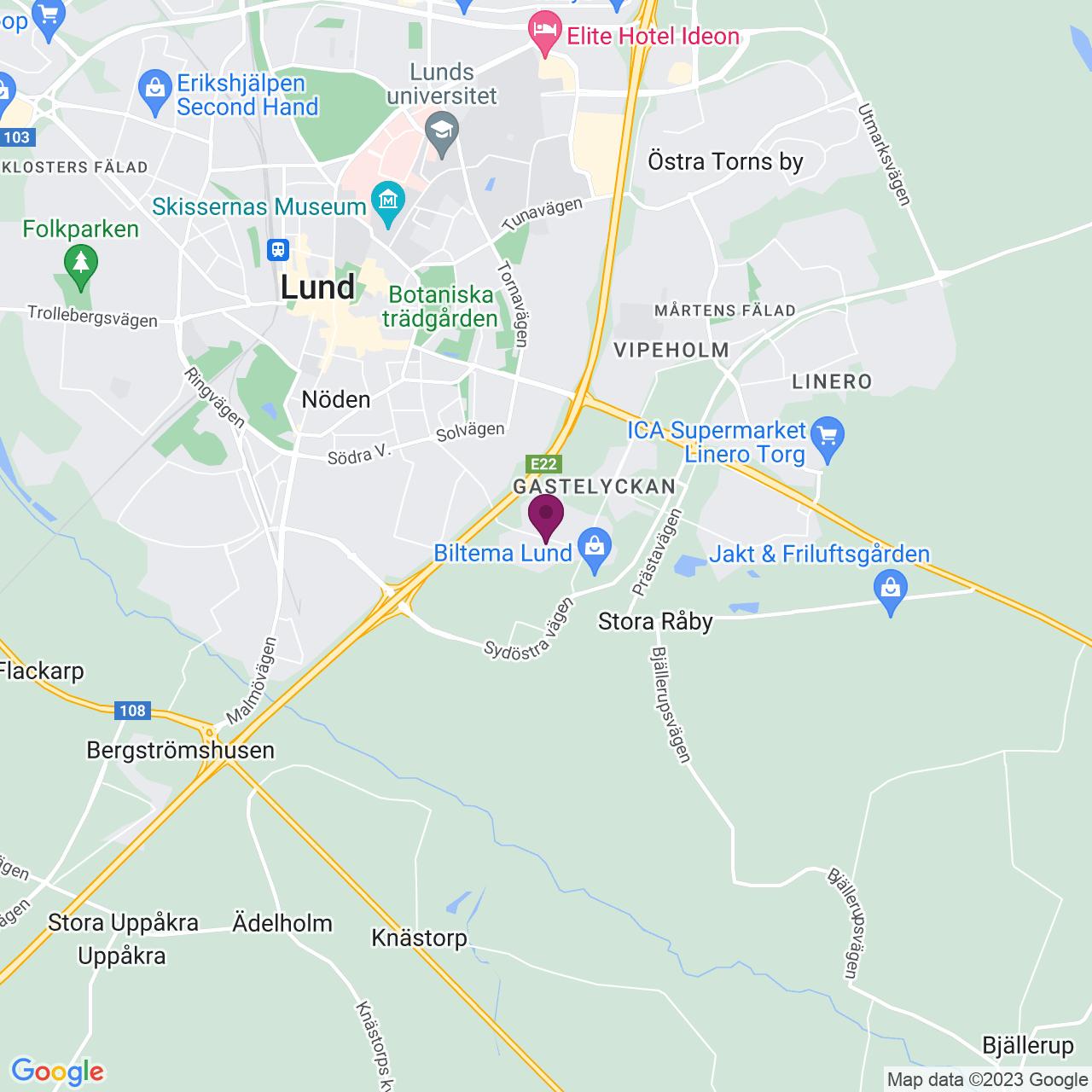 Karta över Kalkstensvägen 12