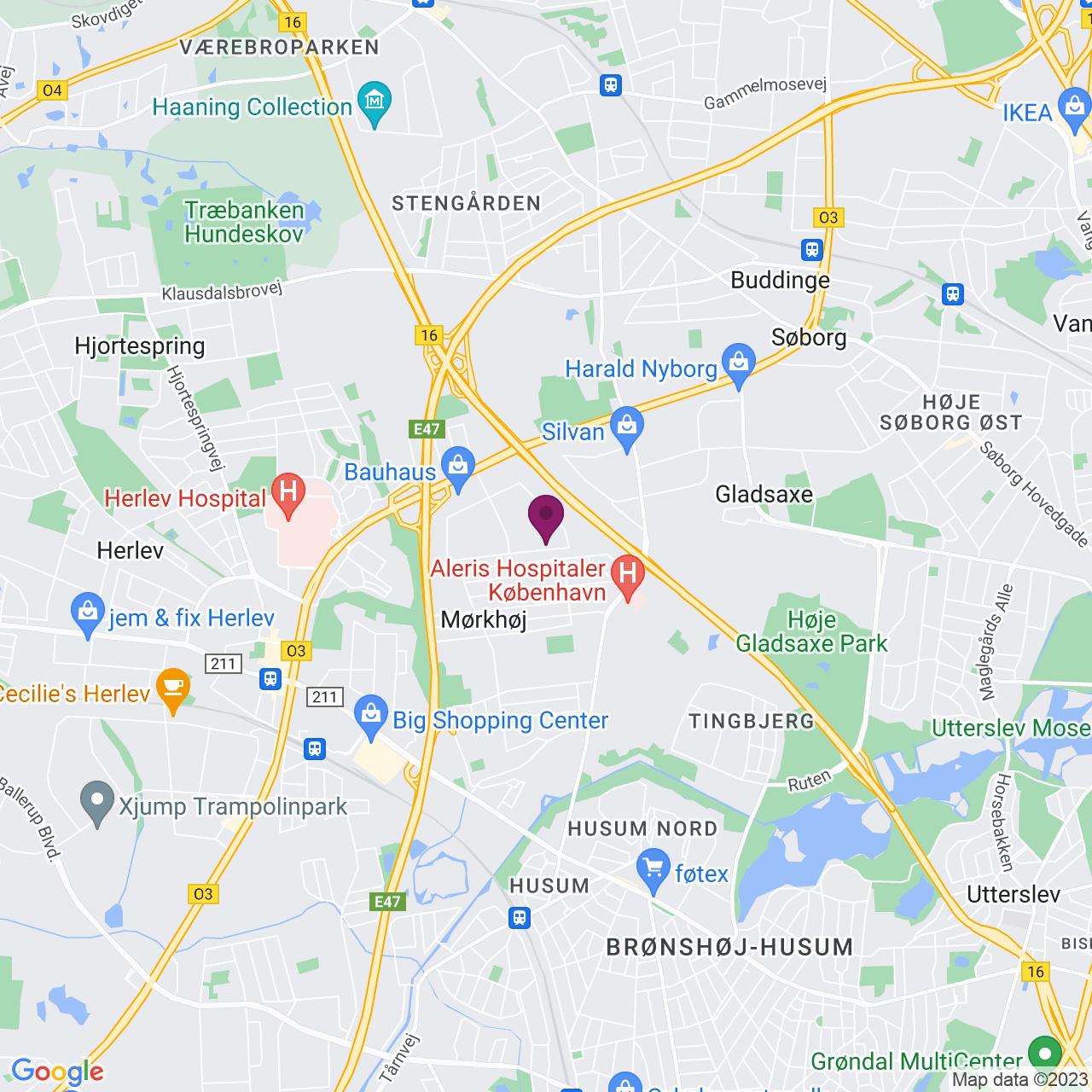 Kort över Generatorvej 6 - 8