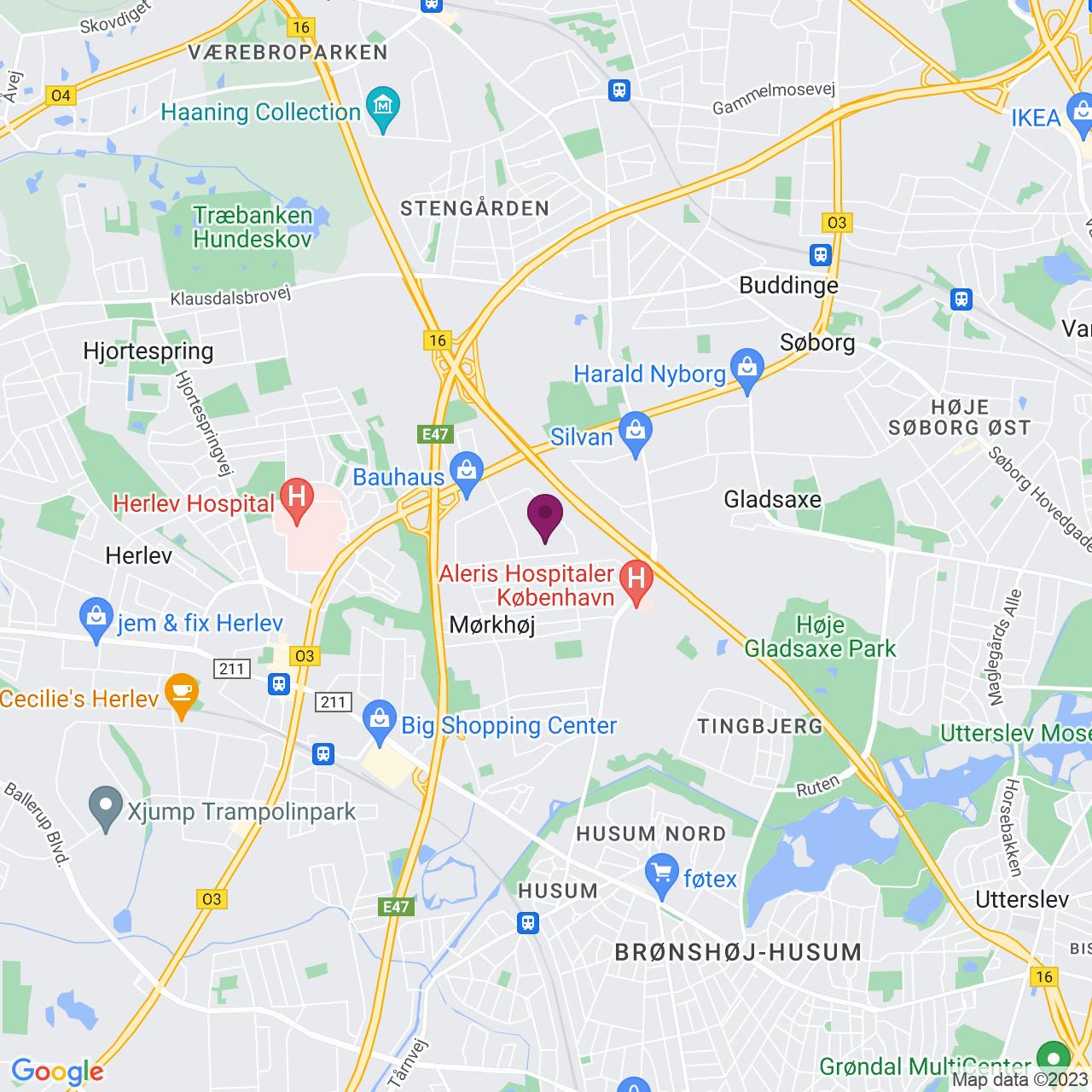 Kort över Generatorvej 8