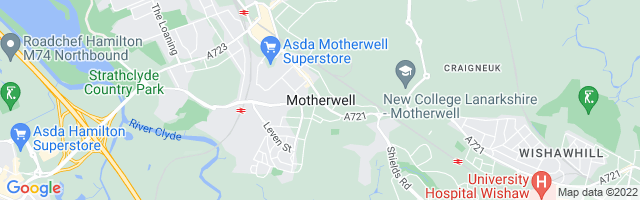 Map Of Motherwell