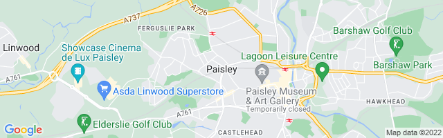 Map Of Paisley