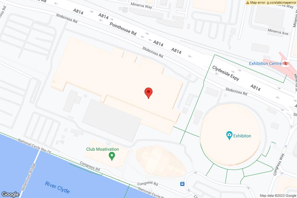The SSE Hydro, Glasgow, G3 8YW map