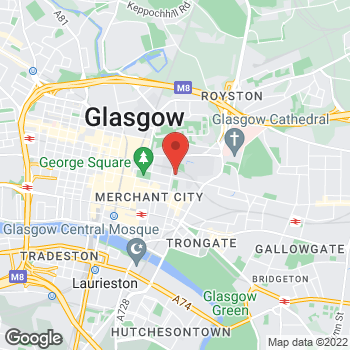 Map of STA Travel at 122 George Street, Glasgow, Strathclyde G1 1RF