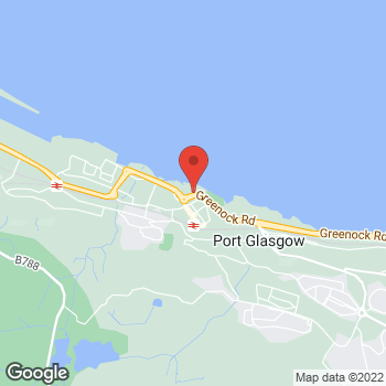 Map of Burger King at 3 Anderson Street, Port Glasgow, Glasgow,  PA14 5EP
