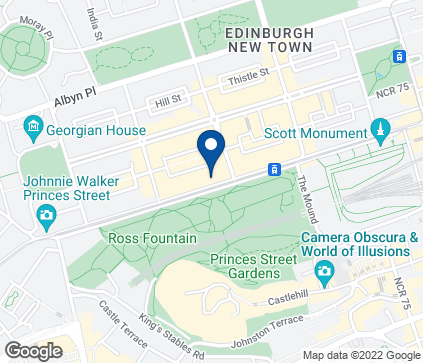 Map of 101-103 Princes Street in Edinburgh