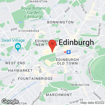 Map of Burger King at 89-90 Princes St, Edinburgh, GB EH2 2ER
