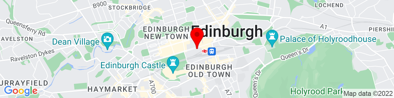 Google Map of 55.9523813, -3.1932733999999527