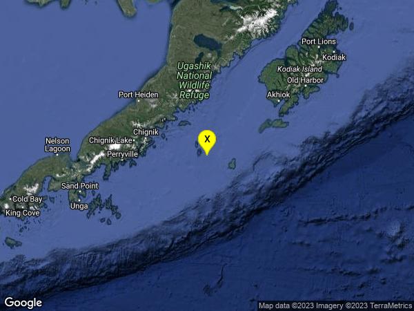 earthquake 126 km ESE of Chignik, Alaska
