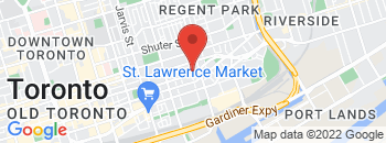 Google Map of 550+Adelaide+Street+East%2CToronto%2COntario+M5A+1N7