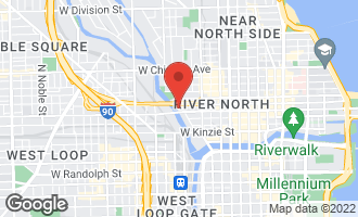 Map of 550 North Kingsbury Street #603 CHICAGO, IL 60610