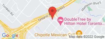 Google Map of 5500+Dixie+Road+Unit+F%2CMississauga%2COntario+L4W+4N3