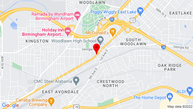 Google Map of 5500 First Avenue North, Birmingham, AL 35212