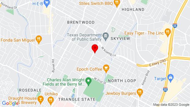 Google Map of 5501 North Lamar Blvd C125, Austin, TX 78751